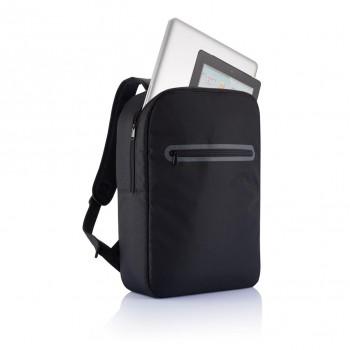 London PVC vrije laptop rugtas