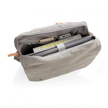 Canvas laptop tas PVC vrij
