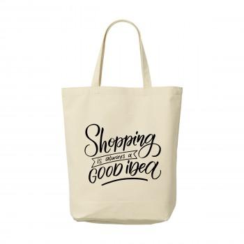 Canvas ShoppyBag korte hengsels tas